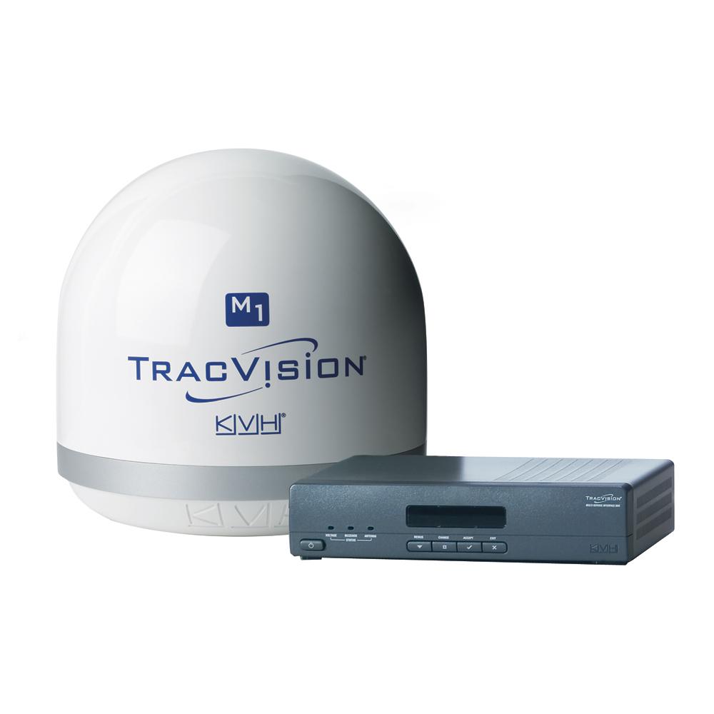 Kvh tracvision m1dx w 12v multi service interface box for World fishing network directv